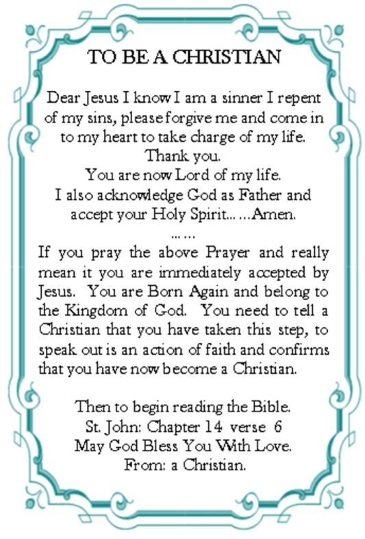 how to say a christian prayer