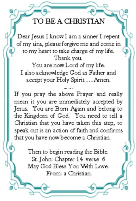 Born Again Prayer