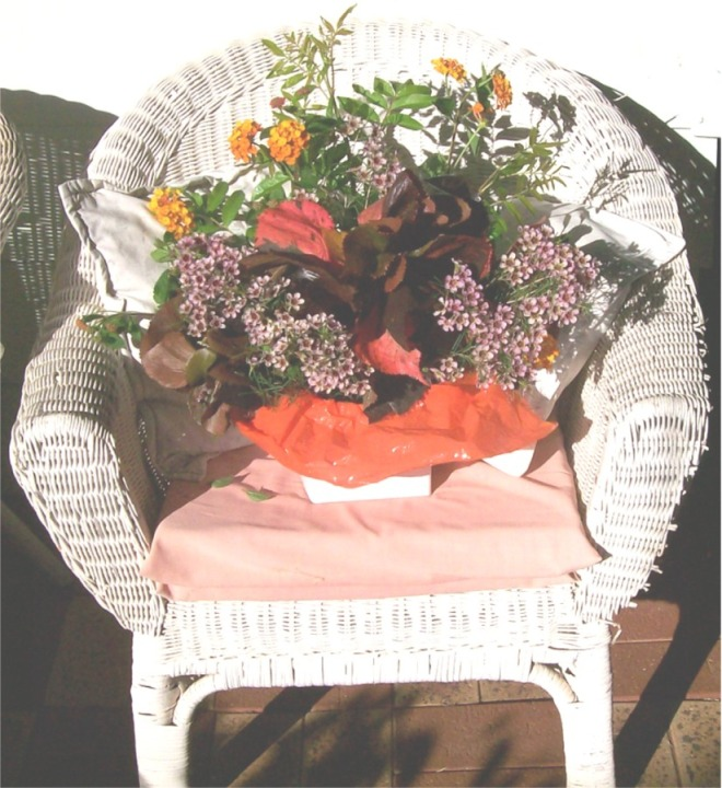 Flwrs on Chair